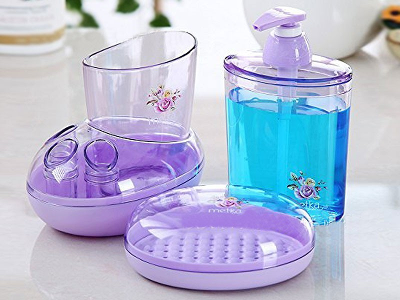 4-Pieces Rose Garden Bathing Set