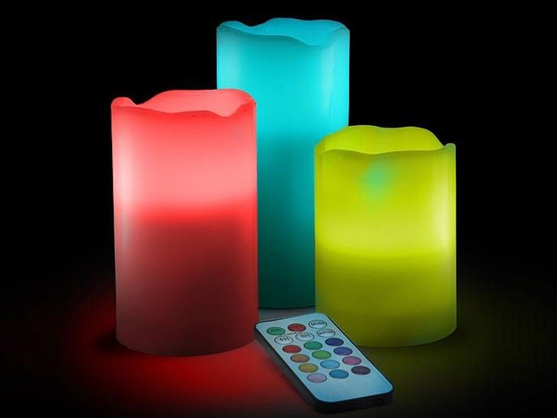 12 Led Colors Changing Flameless Luma Candles Price In