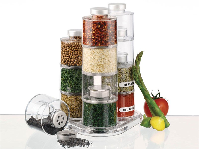 Acrylic Self Stacking Spice Tower Carousel