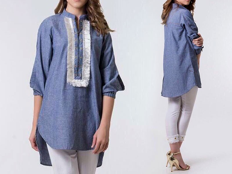 Readymade Stylish Denim Top for Girls