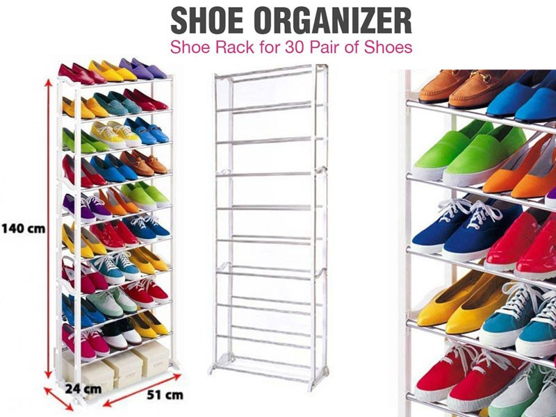 Portable Amazing Shoe Rack Up to 30 Pair