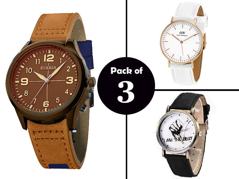 Combo Pack of 3 Men's Watches
