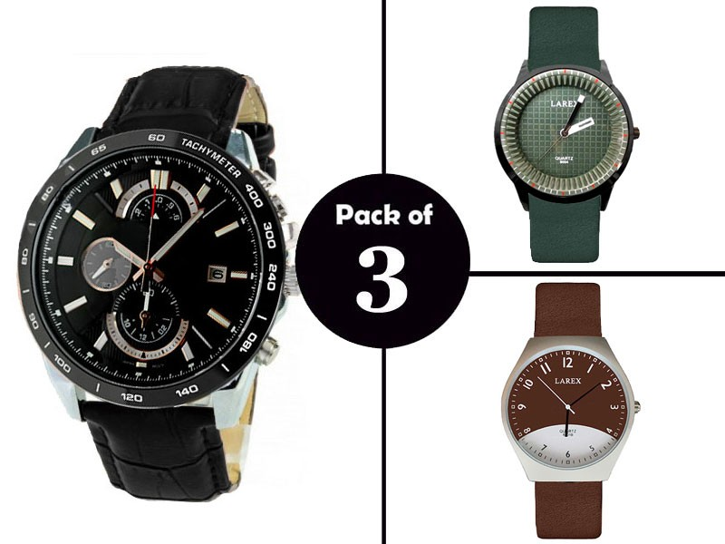 Pack of 3 Elegant Men's Watches