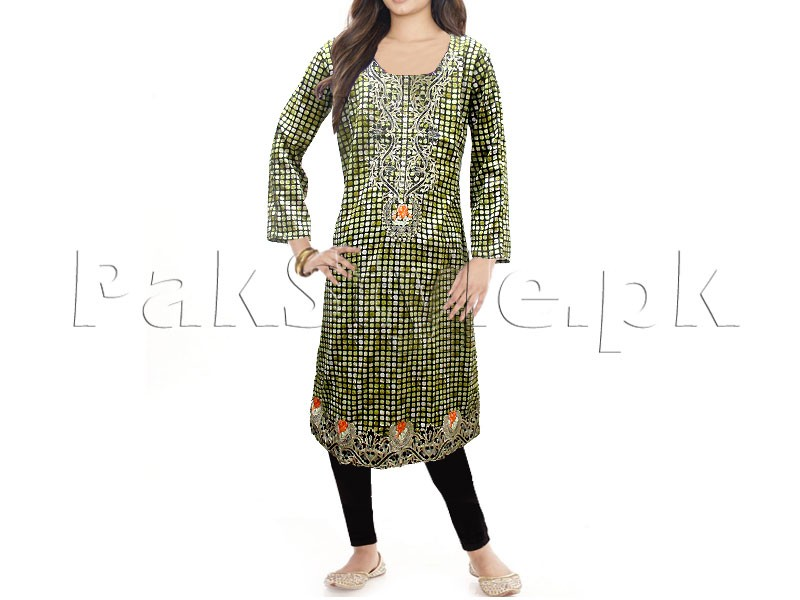 Embroidered Pink Cotton Kurti for Girls Price in Pakistan