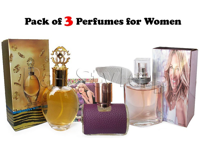 Pack of 3 Women's Perfumes - 25ml
