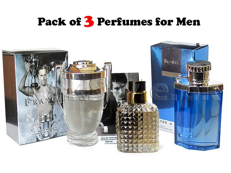 Pack of 3 Men's Perfumes - 25ml