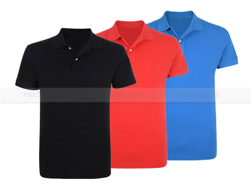 Pack of 3 Cotton Polo Shirts Price in Pakistan