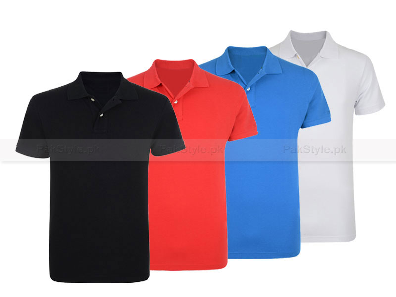 4 Plain Polo Shirts Bundle Offer Price in Pakistan
