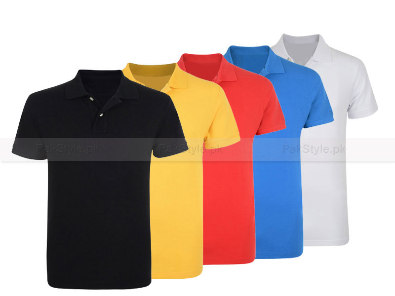 5 Plain Polo Shirts Bundle Offer Price in Pakistan