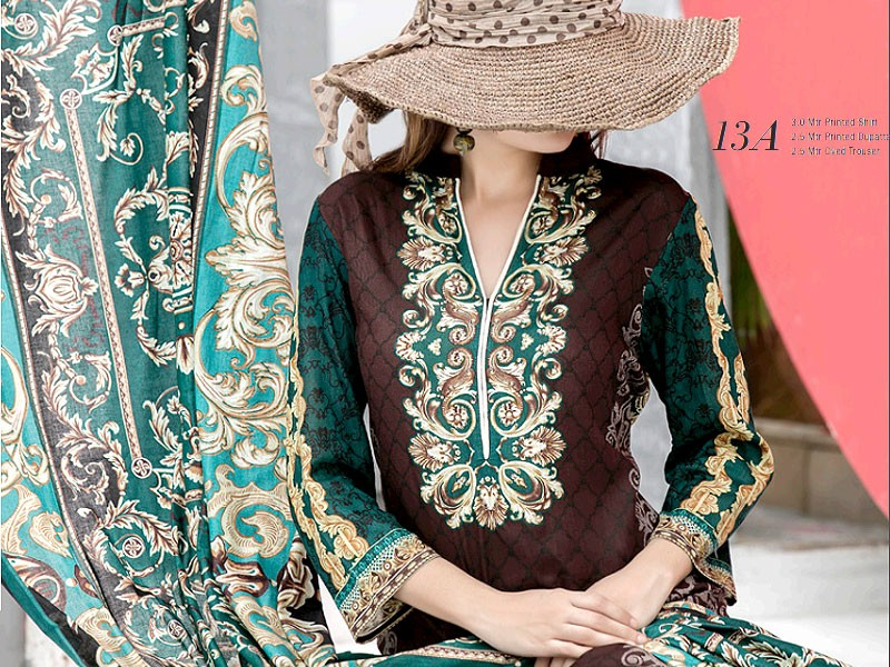 VS Classic Lawn 2018 with Lawn Dupatta VS-13A