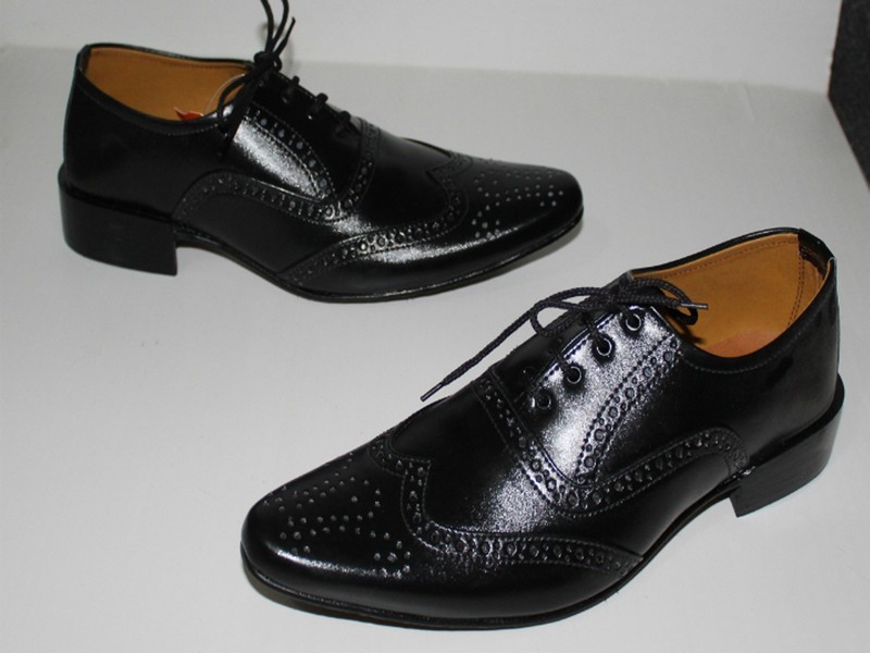 Men's Lace-Up Black Formal Shoes