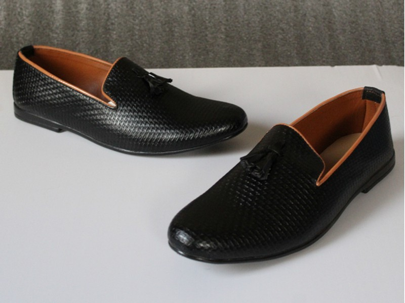 Black Formal Loafer Shoes For Men