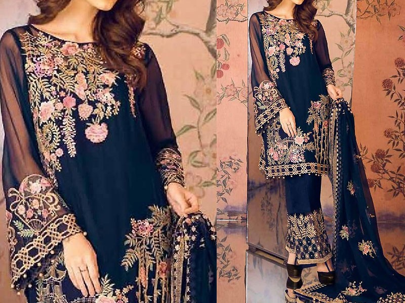 Boski Linen Black Kurti with White Tight Price in Pakistan