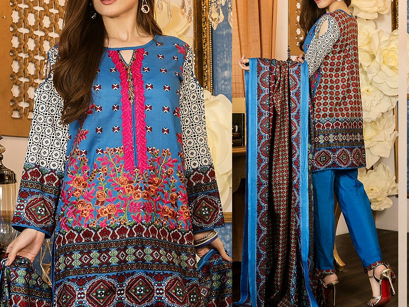 Mehariya Embroidered Lawn Dress MP-03B