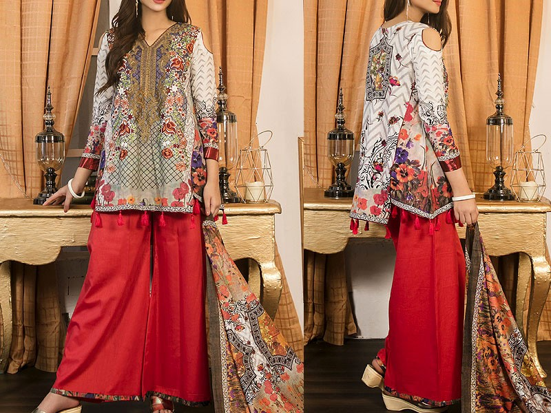 Mehariya Embroidered Lawn Dress MP-06A