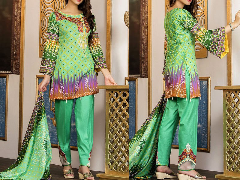 Mehariya Embroidered Lawn Dress MP-07B