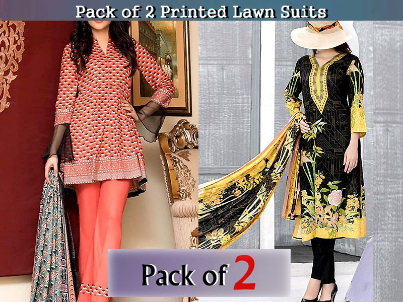 Pack of 2 VS & ZS Textile Lawn Suits