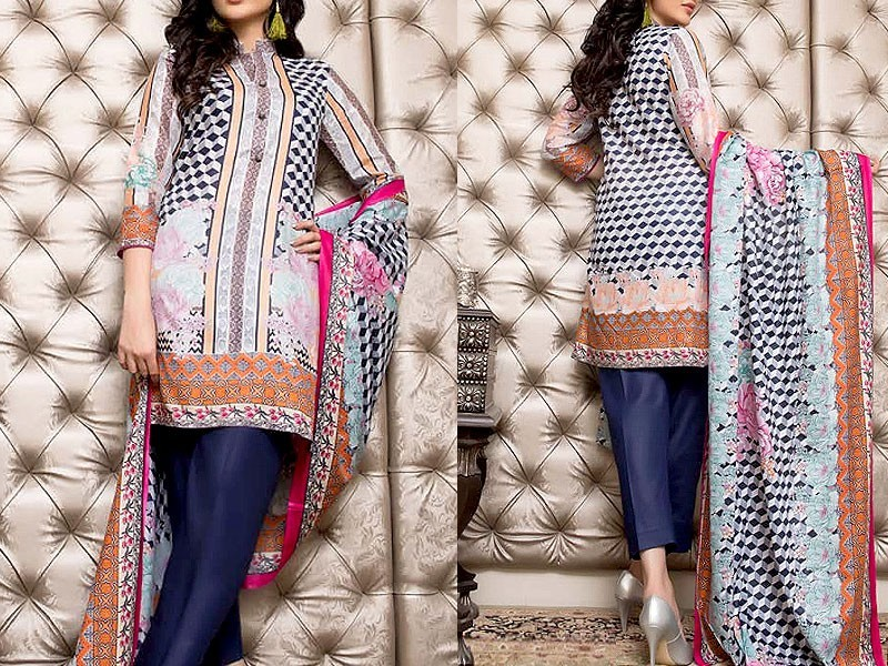 Pack of 3 Printed Lawn Suits with Lawn Dupatta