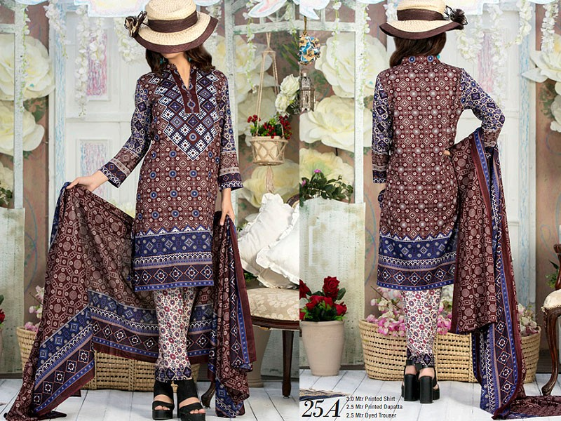 VS Classic Lawn 2018 with Lawn Dupatta VS-25A