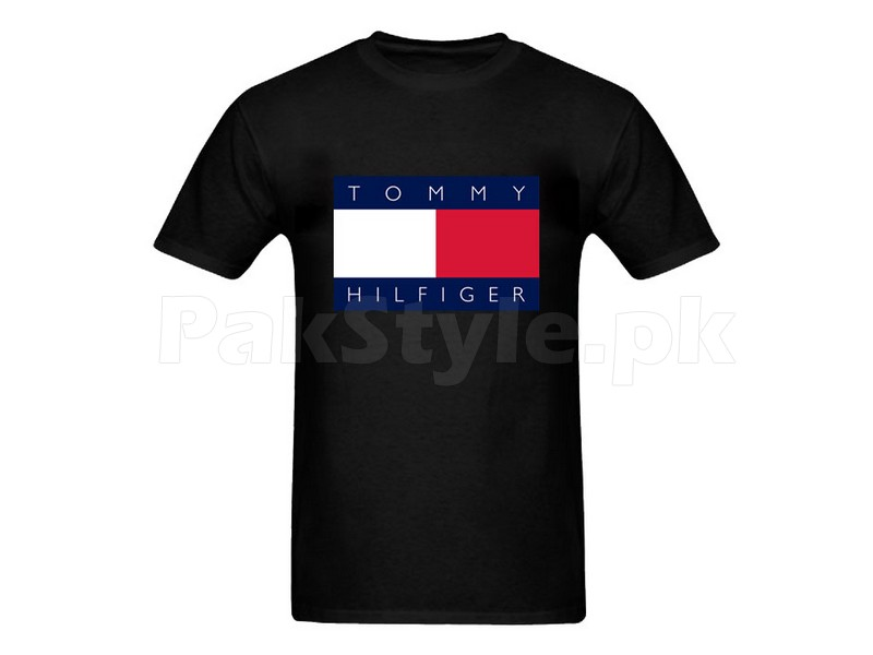 tommy hilfiger graphic t shirt price in pakistan m001085 check. Black Bedroom Furniture Sets. Home Design Ideas