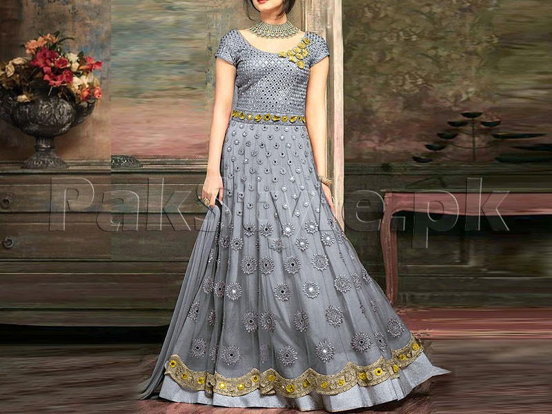 ce8ea49a48a Indian Embroidered Chiffon Maxi Dress Price in Pakistan (M010875 ...