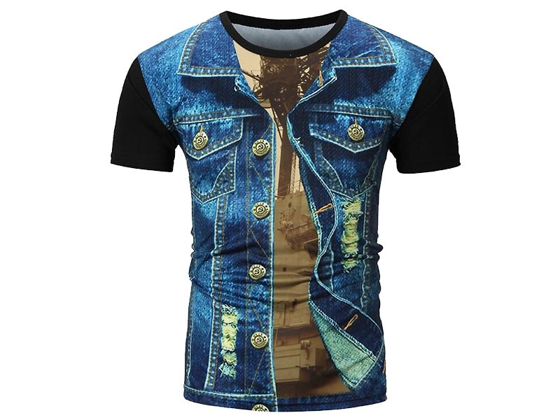 Imported China Fabric Digital Print T-Shirt