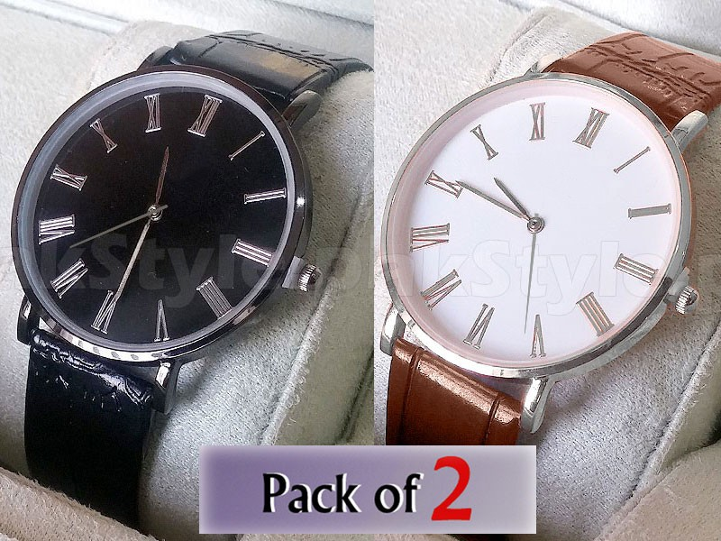 Pack of 2 Watches For Men