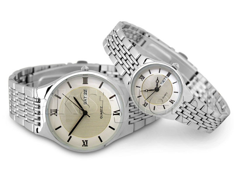 Pack of 2 Day-Date Couple Watches Price in Pakistan
