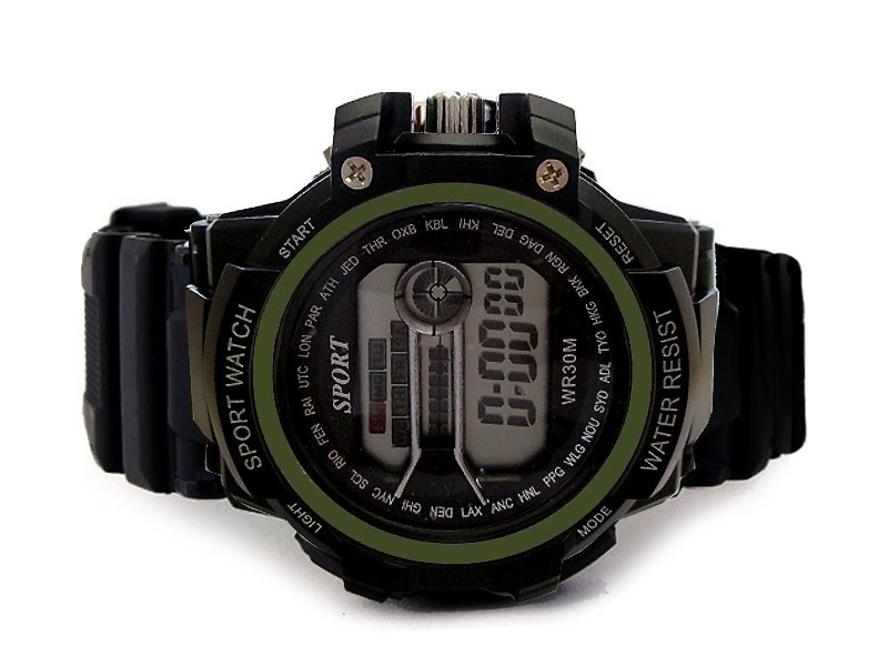 Kids Digital Sports Watch - Green