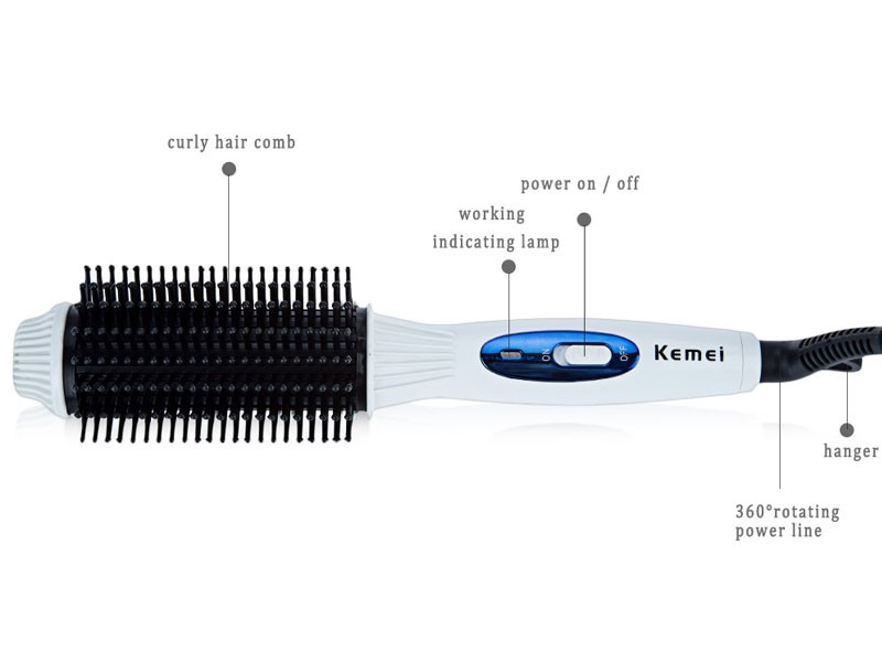 Kemei 2 in 1 Hair Curler & Straightener KM-8110