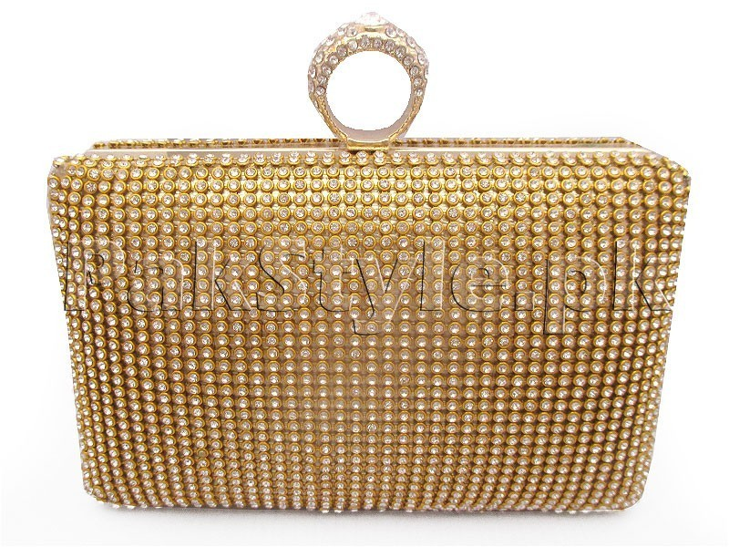 Elegant Golden Bridal Clutch