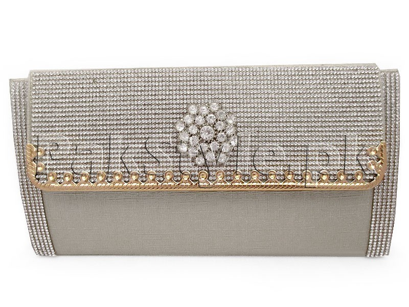 Silver Evening Clutch Bag