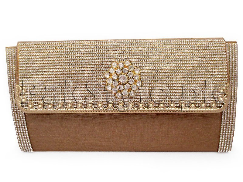 Brown Evening Clutch Bag