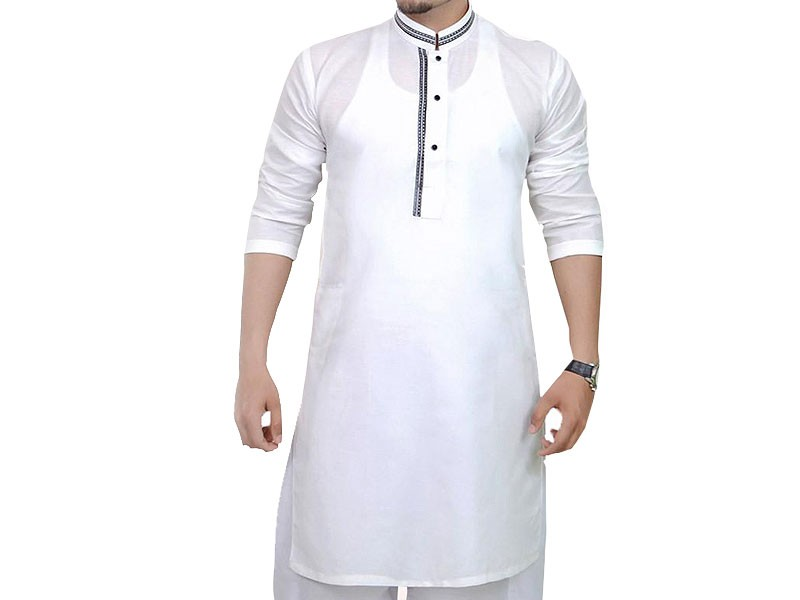 Men's Readymade Wash-N-Wear Kurta - White