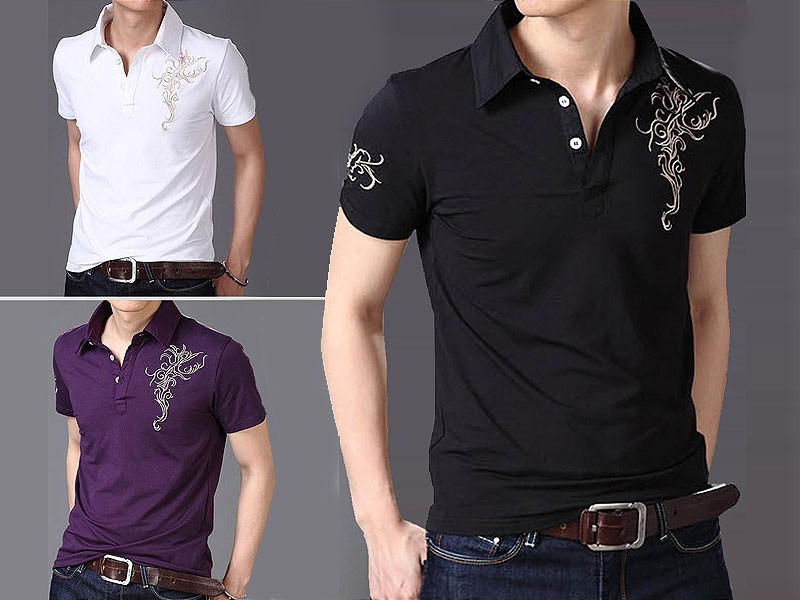 Pack of 3 Printed Polo Shirts