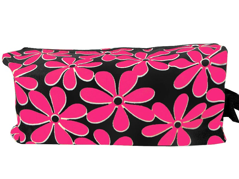 Flower Printed Cosmetics Storage Bag - Pink