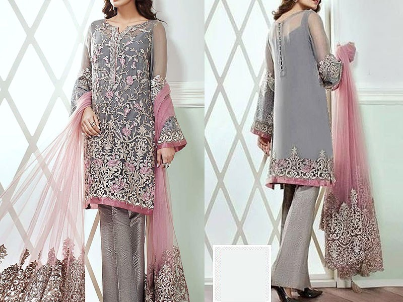 Embroidered Chiffon Suit with Dupatta Price in Pakistan