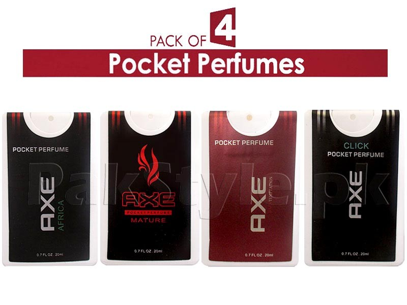 Pack of 4 AXE Pocket Perfumes for Men - 20ml