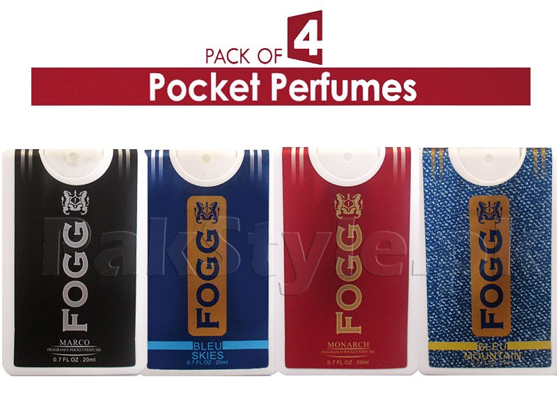 Pack of 4 FOGG Pocket Perfumes - 20ml