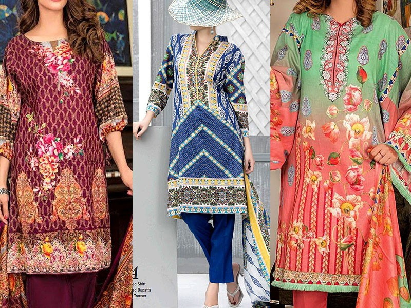 Pack of 3 Rashid & VS Classic Lawn Suits Price in Pakistan