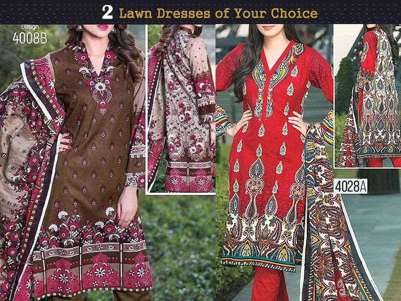 Pack of 2 Star Classic Lawn Suits of Your Choice