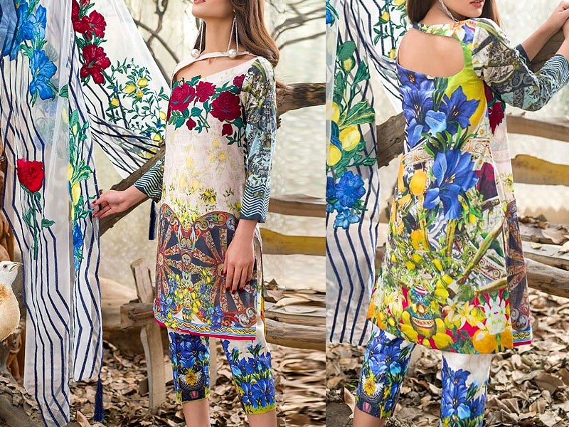 2 Piece Sitara Sapna Printed Lawn Suit 6060-C Price in Pakistan