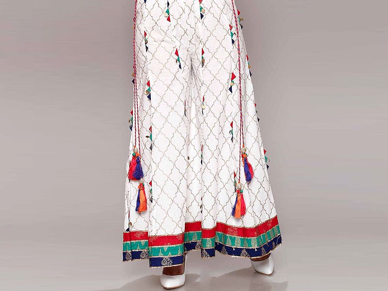Boski Linen White Sharara Price in Pakistan