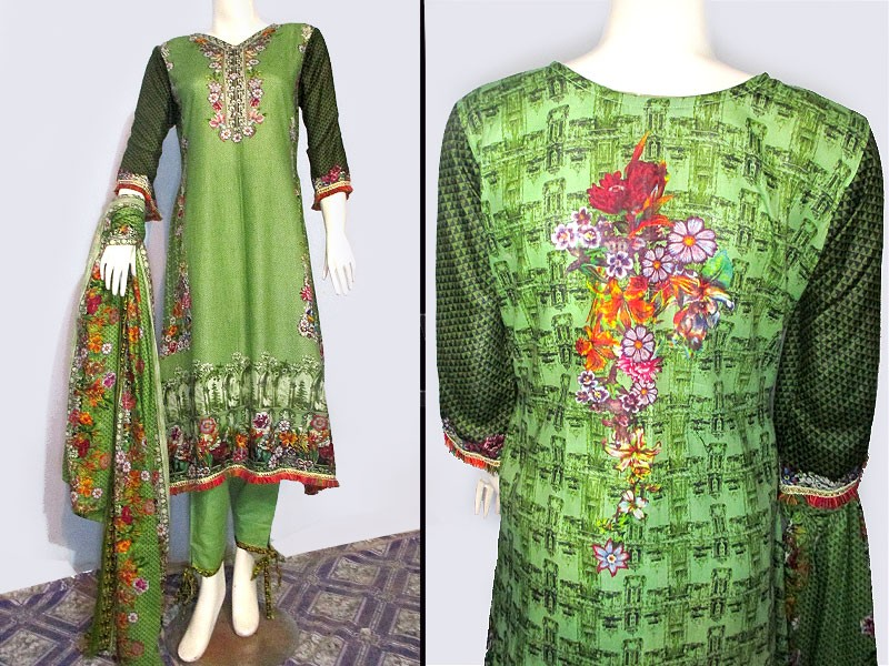 3 Piece Ready Made Lawn Suit by Hina Collection