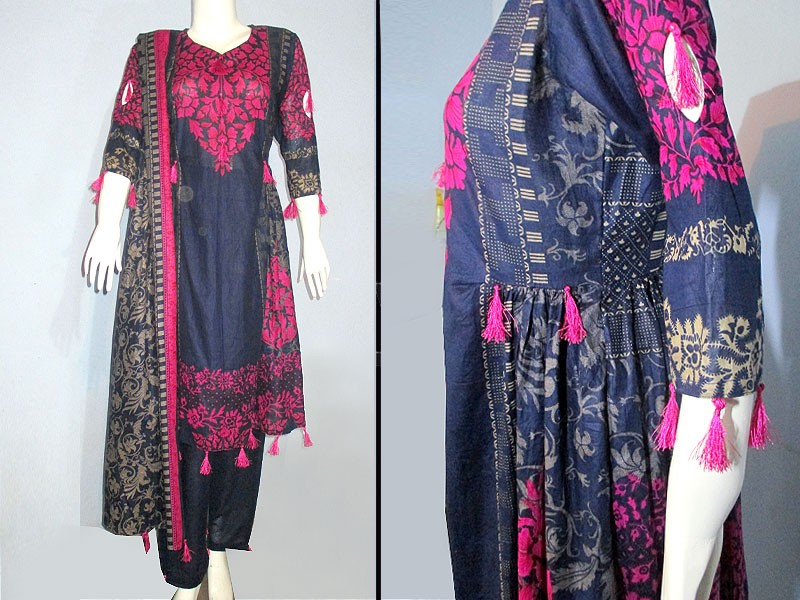 3 Piece Ready Made Lawn Suit by Hina Collection Price in Pakistan