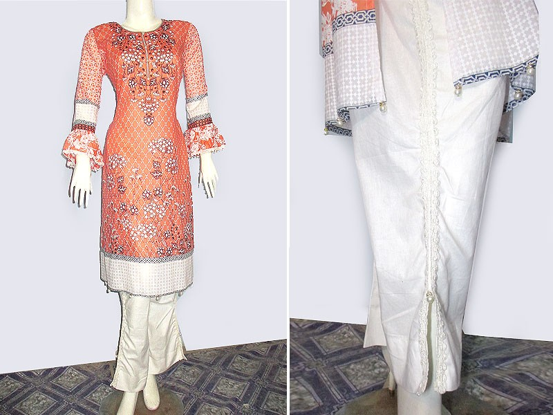 2 Piece Ready Made Lawn Suit by Hina Collection