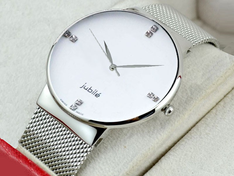 Elegant White Dial Men's Watch