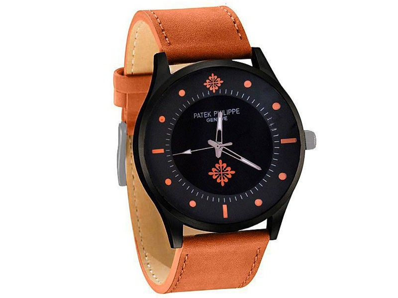 Elegant Leather Strap Men's Watch