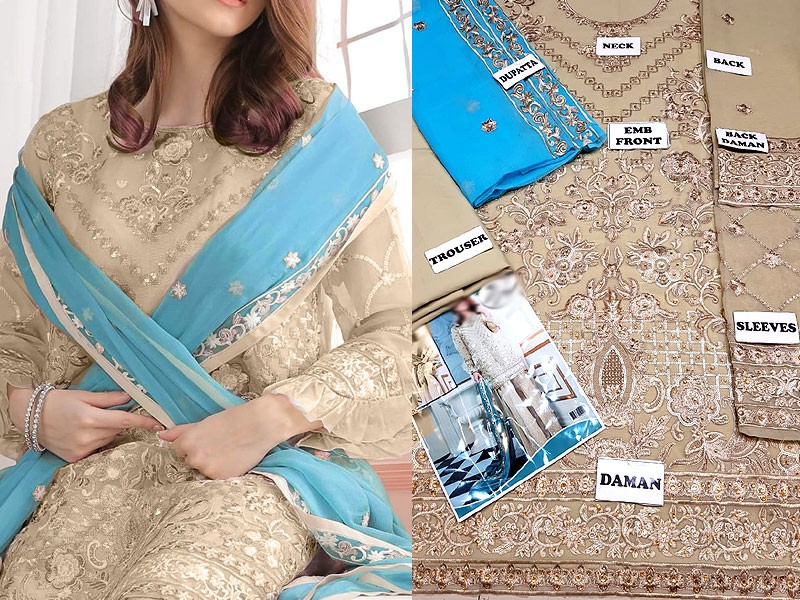 Embroidered Chiffon Party Dress Price in Pakistan (M011333 ...