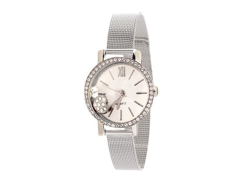 Elegant Silver Chain Ladies Watch